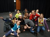 Student actors strike a pose during 2015 YWAC