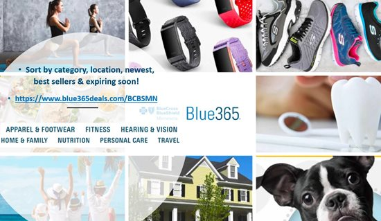 Photo of Blue365 fitness categories