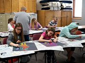 Students at 2016 YWAC session draw Picasso roosters