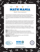 2018 Spring Math Mania Tournament Flier