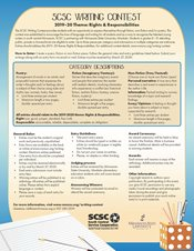 SCSC Writing Contest Flier