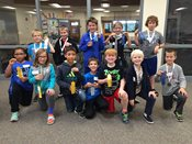 2016 Fall Chess tournament: Students with ribbons